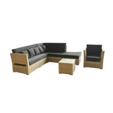 Ao ar livre do Rattan combinar mobília do sofá de canto