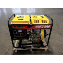 AC Single Phase 50Hz/4.5kw Open-Frame Diesel Generator for Shop Use