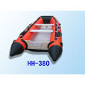 PVC or Hypalon Inflatable Boat 3.8m Plywood floor pvc boat aluminum floor