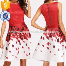 Ärmelloses Top und Rosenblütenprint Rock Set Herstellung Großhandel Mode Frauen Bekleidung (TA4068SS)