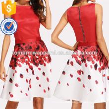 Sleeveless Top And Rose Petal Print Skirt Set Manufacture Wholesale Fashion Women Apparel (TA4068SS)