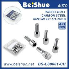 4 + 1PCS härten Stahlrad-Lug-Schraube