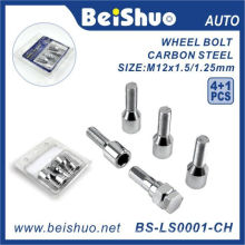 4 + 1PCS Harden Steel Wheel Lug Bolt