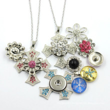 Custom Latest Design Snap Button Pendant Necklace