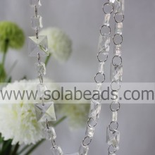 Chunky 20MM&14MM Plastic Crystal Beading Chain
