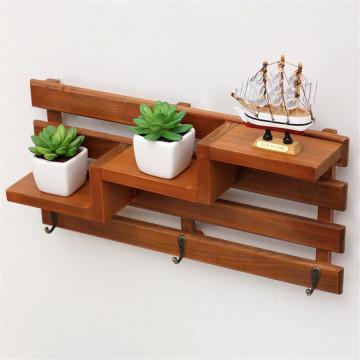 Estantería de madera pequeña oficina firme con colgante