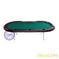 TEXAS HOLD'EM Pokertisch Full Size Tabelle 10 Spielerposition mit Händlerfach