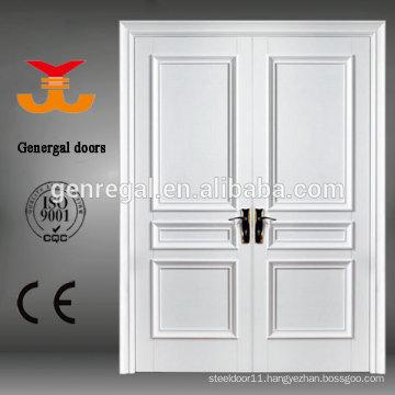 CE Luxury white interior Double Leaf Wood Door