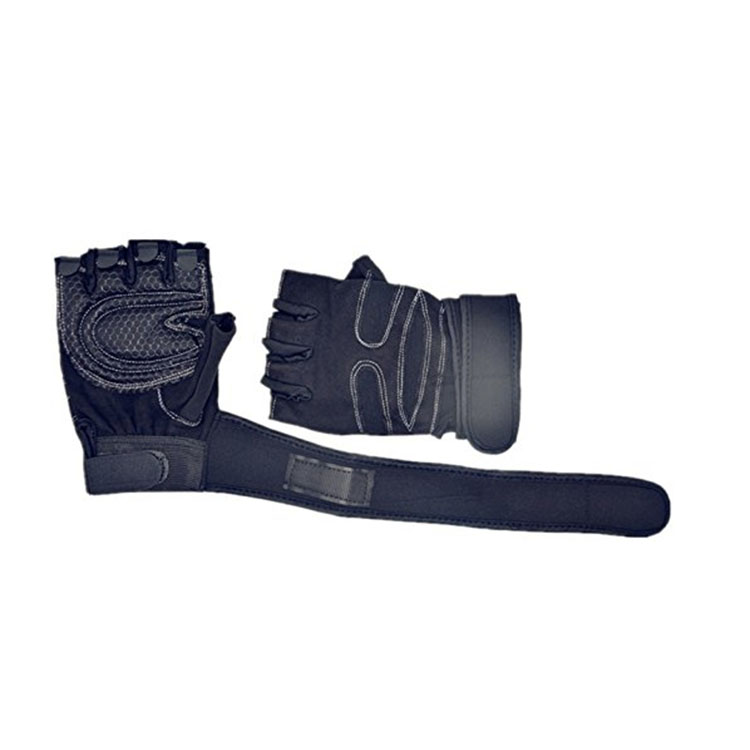 Black Half Finger Dumbbell Gloves