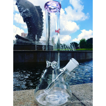 Top Selling Beaker with Stem 3 Pinch Ice Catcher Glass Smoking Pipe