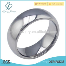 High polished men mirror ring, mirror tungsten silver ring mens