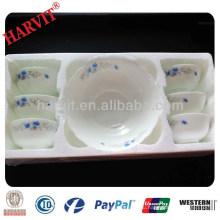 Новый 2014 Дубайский оптовый рынок 7PC Эмаль дешево Opaleware стеклянные миски наборы с Decal Lunch Box на продажу