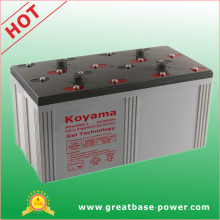 3000ah 2V Stationary Gel Battery for Telecom/ Solar & Wind Power System
