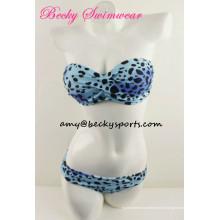 Lady's Swimsuit Bikini Praia Estilo Bandeau