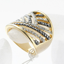 wholesale price Fashion Jewelry Vintage big wide band Rings gold color Rhinestone Rings