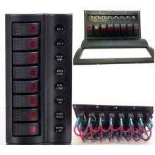 Panel de interruptor de balancín marino / barco con indicador LED / panel de interruptor oscilante