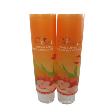 beautiful offset printing pattern face wash semi-transparent tube