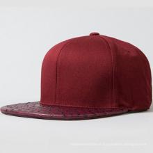 Venda quente personalizado Snapback Cap bordado