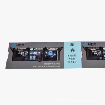 Tarjeta de entrada Tarjeta de papel Impresión de tamaño personalizado