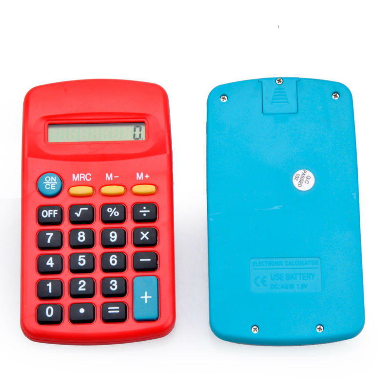 8 Digits Mini Lovely Kids Electronic Pocket Calculator