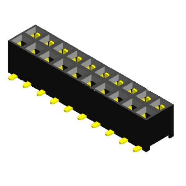 Standard 40 PIN BASSO PROFILO IC SOCKET PCB dritto DIP40 Slot