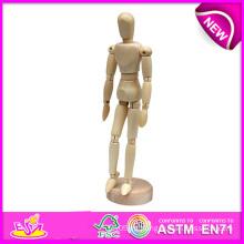 Maniquí humano maniquí-Flexible de dibujo de madera, Artista rotativo Artista maniquí de madera del arte maniquí de madera del cuerpo humano W06D041