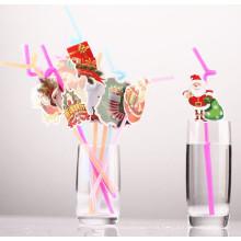 Happy Holiday Creative Cup pajas partido pajas de beber