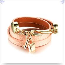 Bijoux en acier inoxydable Bracelet en cuir en cuir bijoux (LB479)