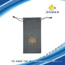 bronzing brand microfiber pouch bag