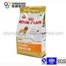 Bolsa de plástico de embalaje de alimentos para mascotas personalizados para perro, pescado