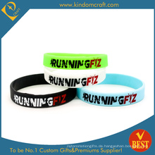 Hor Verkauf benutzerdefinierte Logo Silikon Armband & Armband