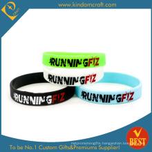 Free Design Colorful Wholesale Fashion Silicon Wristband