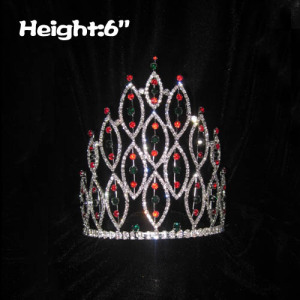 Crystal Spike Pageant Crowns For Christmas