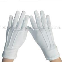 OEM Polyester Soft Doorman Black White Etiquette Gloves