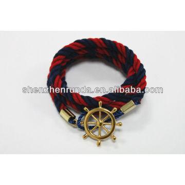 Bracelete do algodão da jóia da forma vermelho e bracelete preto Fabrica & fornecedores & fábrica