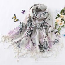 Hot New Soft Lã Cashmere Pashmina Shawl Shawl Bordado / Lenços Scarf Wrap