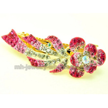 Silk Shape Zinc Alloy Fashion Rhinestone Hair Clips Ornaments