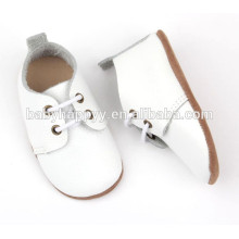 wholesale spanish genuine leather baptism plain white baby shoes