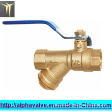 Lever Handle Brass Y Strainer with Ball Valve (a. 0133)