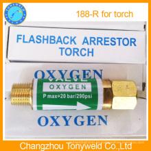 Válvula de oxígeno Yamato Retén Flashback 188R para antorcha