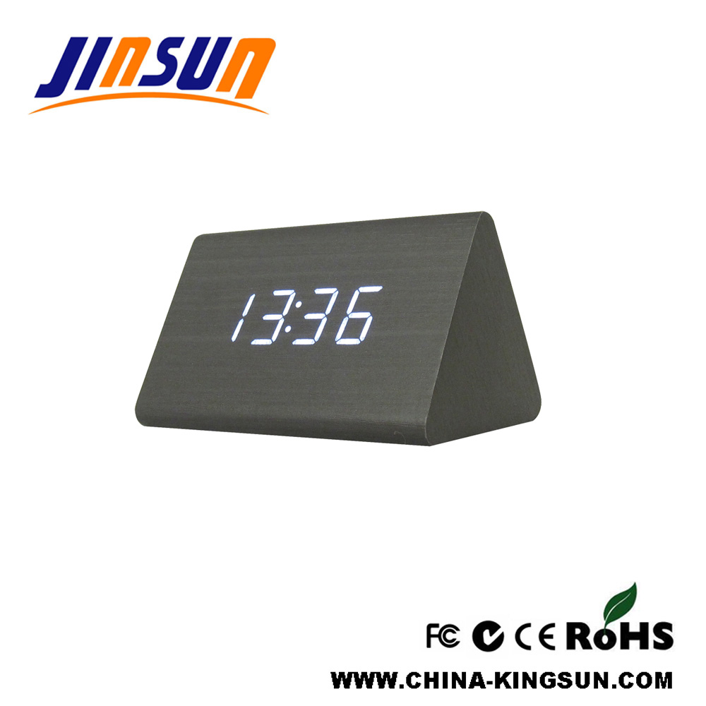 Triangle Led Clock with temperature