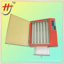 Mini portable polymer plate UV exposure unit with drawer