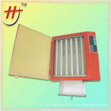 Mini placa de polímero portátil Unidade de exposição UV com gaveta