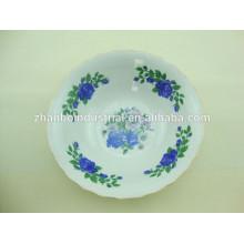 Фарфоровая салатная миска с красивой декалью и дешевой ценой