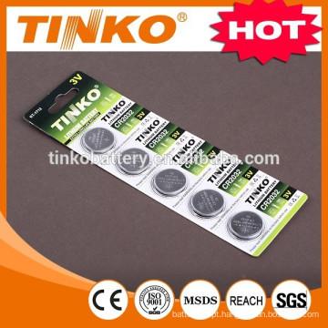 Bateria de lítio botão CR2032 bateria com preço baixo e boa qualidade