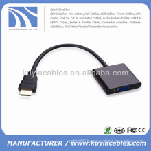 HDMI Male to VGA Female Cable Adapter 1080P Black For XBOX 360 AV