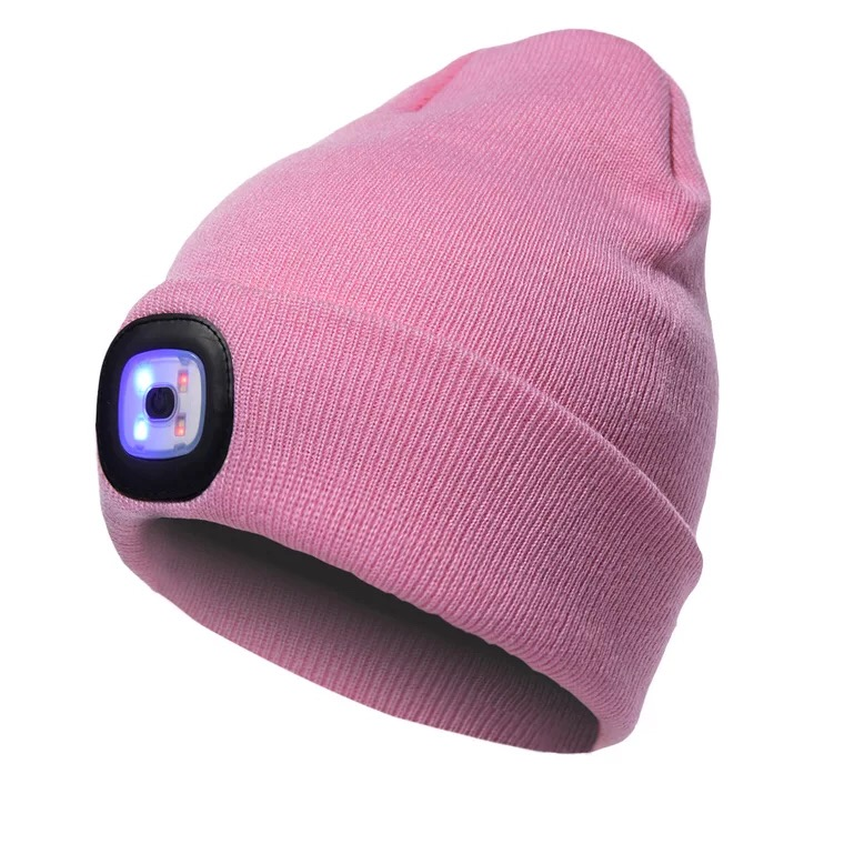 2018 Popular Led Beanie Hat With Lamp 3