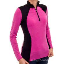 Factory Femmes Sport Shirts Fitness T-shirts à manches longues