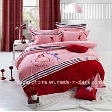 2015 aquecida 4 PCS algodão impressão xadrez conjunto de cama