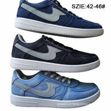 Les dernières chaussures d'Injection Jeans de bas prix des hommes Skate Shoes (MP16722)